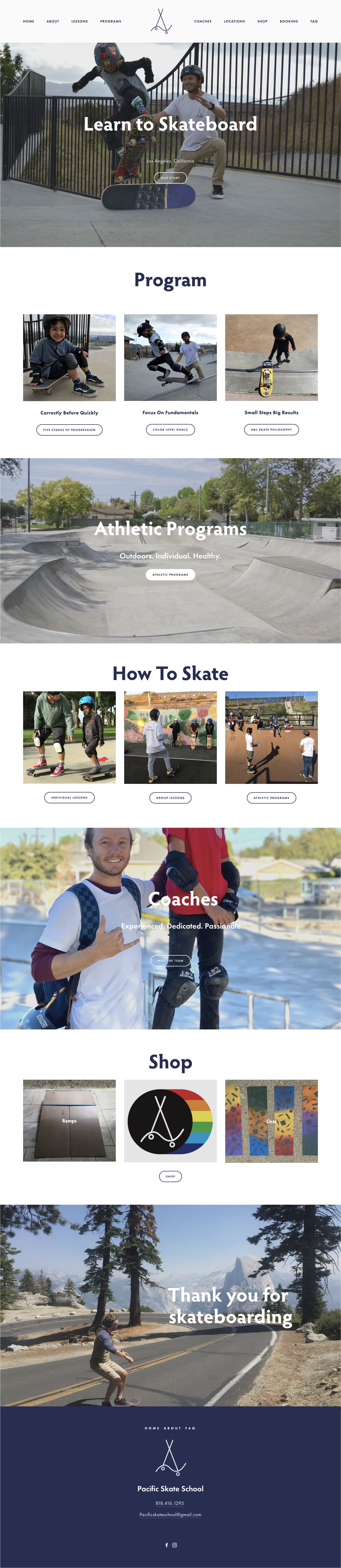 Pacific Skate School Home Page